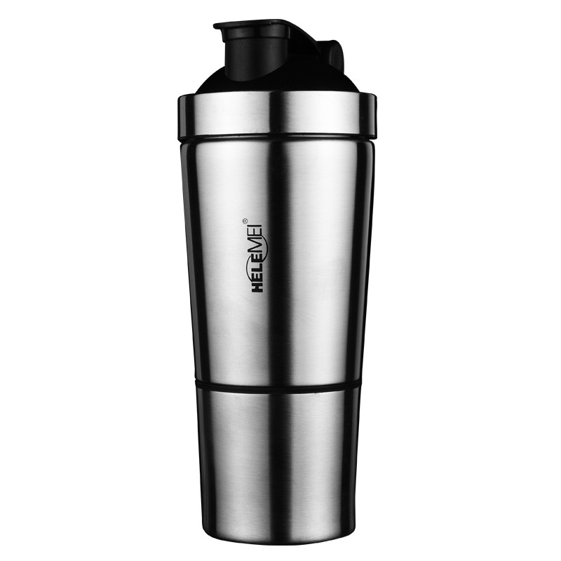 500ml Stainless Steel Protein Mixer Blender Shaker Shaking Cup Bottle Water Drinkware Barware Sports Fitness Gym