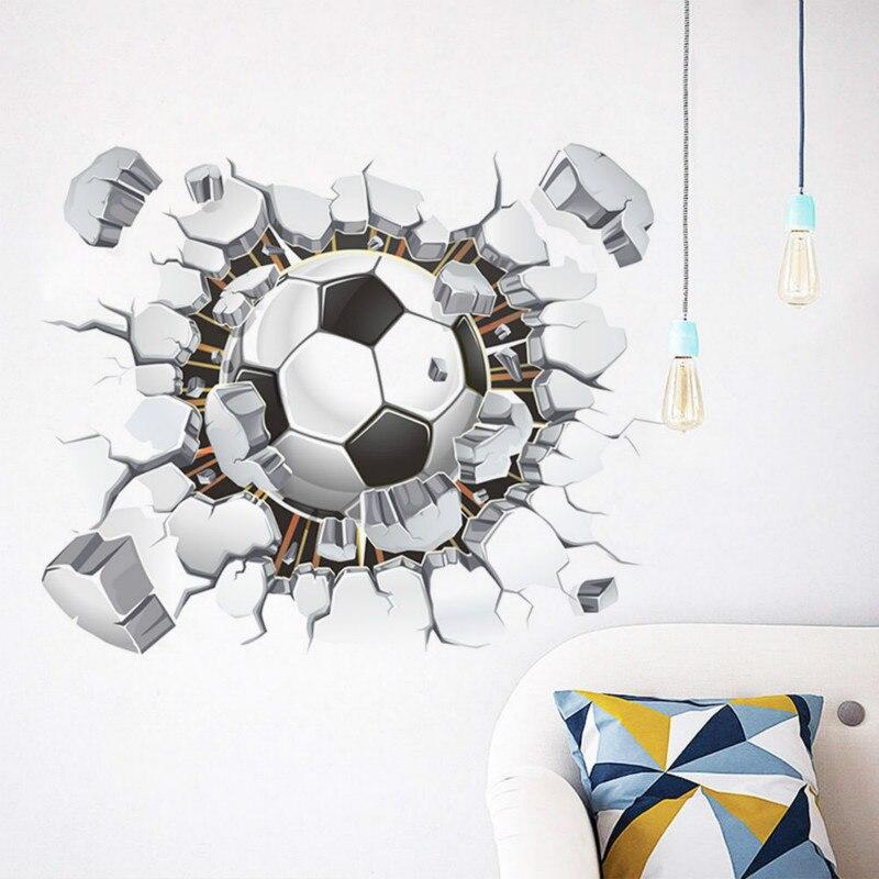 Newly Design Soccer Ball Football Creative Wall Sticker Decal Eco-friendly Vinyl Art Decor Sport Boy Bedroom Mural