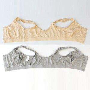 Image 5 - 6031 Voorsluiting Bh/Vrouwen Beha Plus Size/Katoen Beha Met Zakken Voor Post Chirurgie Vrouwen Siliconen Insert