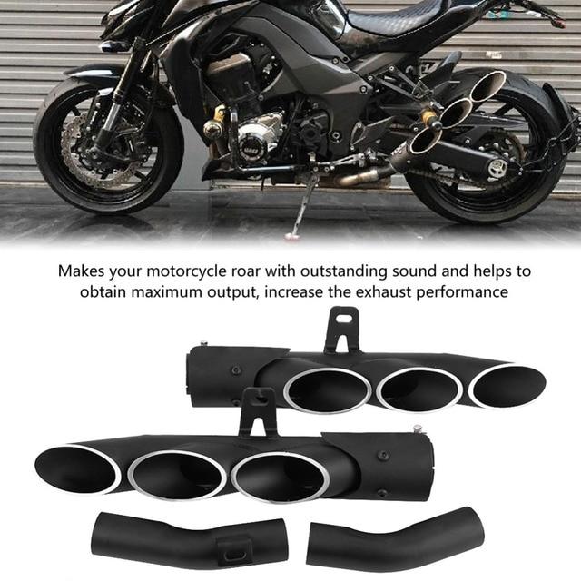 오토바이 배기 머플러 중간 파이프 링크 연결 가와사키 z1000 2010 2016 tailpipe 키트 오토바이 액세서리