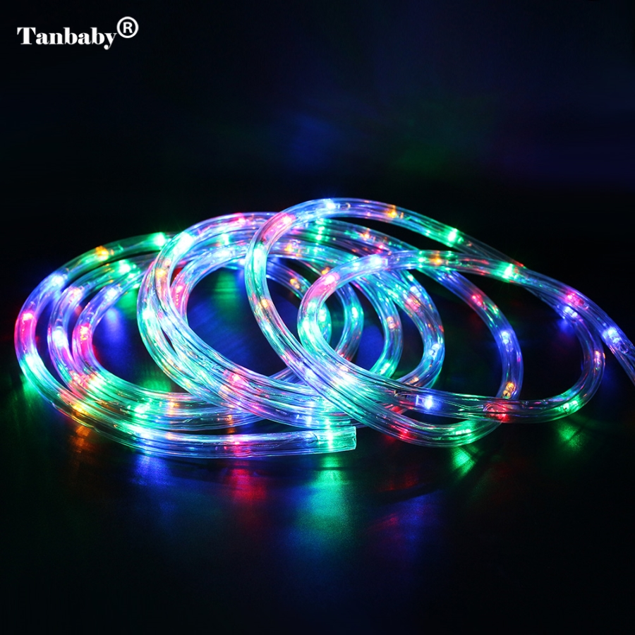 Led Lights Rainbow: Tanbaby AC220V 20leds/m IP67 Waterproof Rgb Led Strip