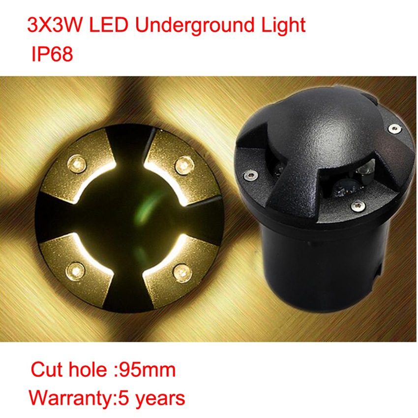 10pcs 3x3w 5x3w Outdoor Underground Led Lamp Light Ip67 Waterproof Garden Path Buried Yard Landscape Deck Led Lights To Produce An Effect Toward Clear Vision Led Underground Lamps Led Lamps