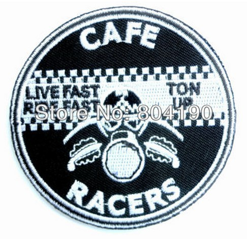Cafe Racer Racers Ton Up 59 Rockers CLUB TRIUMPH BIKER PATCH Iron Sew On Embroidered Motorcycle
