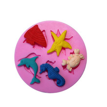 Chocolate Moulds Crab-Mold Starfish Fondant-Soap Silicone Small-Size Cake-Tools Dolphin