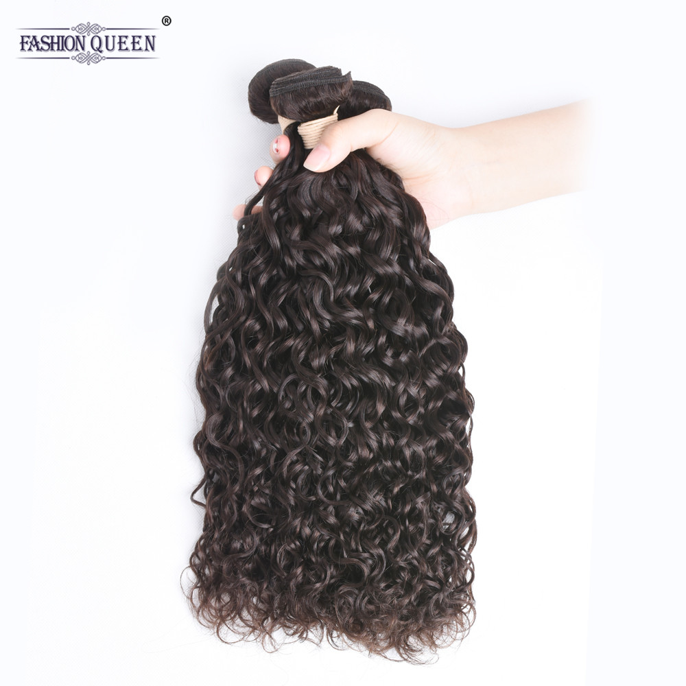 Mongolian Water Wave Bundles Human Hair Weave Bundles 100% Hair Extensions NonRemy Hair Dark Brown Color 8-28 Inch