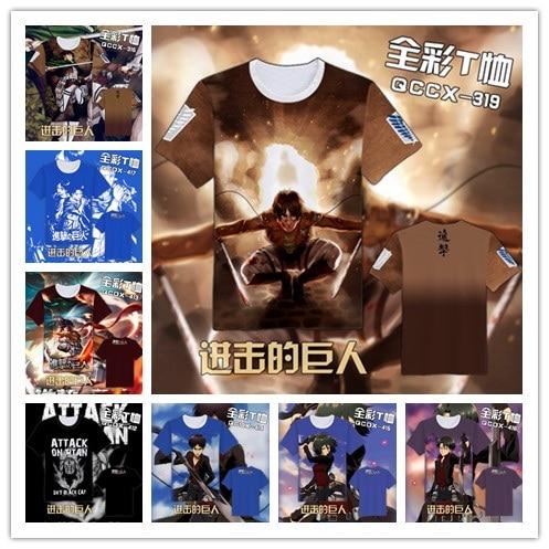 Ataque a Titan Fashion Japanese Anime Clothing Manga corta Unisex - Disfraces