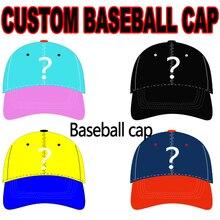 b6014501962 2018 Custom Baseball Cap Custom 3D Embroidery Logo 6 Panels Hat Adjustable  Cap Wholesale Free Shipping