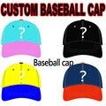 2017 Gorra de Béisbol de Encargo Logo Bordado Personalizado 3D 6 Paneles Sombrero Tapa Ajustable Al Por Mayor Envío Gratuito