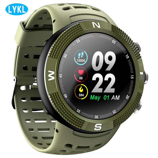 Smart watch F18 outdoor GPS positioning IP68 waterproof blood pressure heart rate monitoring fitness tracker watch call reminderSmart watch F18 outdoor GPS positioning IP68 waterproof blood pressure heart rate monitoring fitness tracker watch call reminder