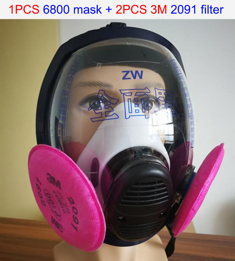 high quality respirator mask 6800 mask + 3M 2091 filter respirator dust mask against dust smoke filter mask op7 6av3 607 1jc20 0ax1 button mask