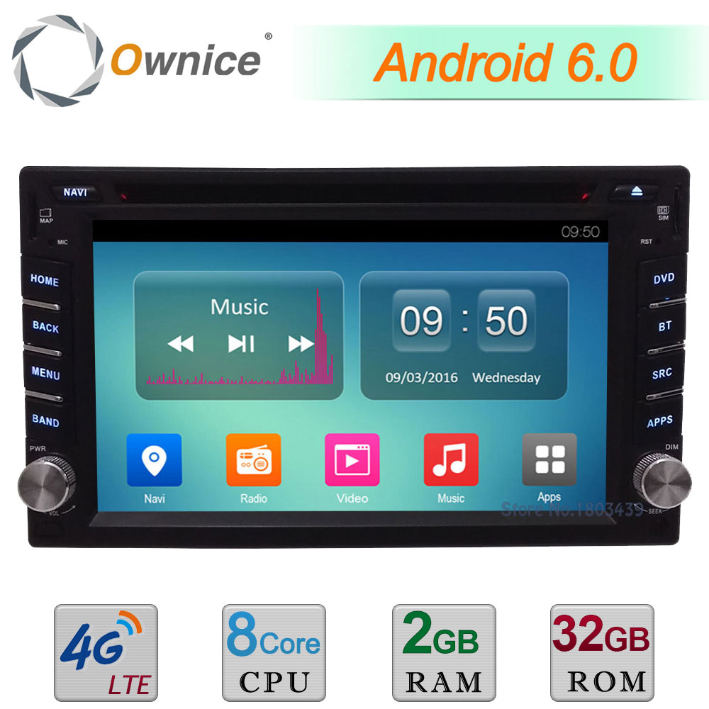 Ownice C500 Universal 2 din Android 6.0 Octa 8 Core Car DVD player GPS Wifi BT Radio BT DAB 2GB RAM 32GB ROM 4G SIM LTE Network