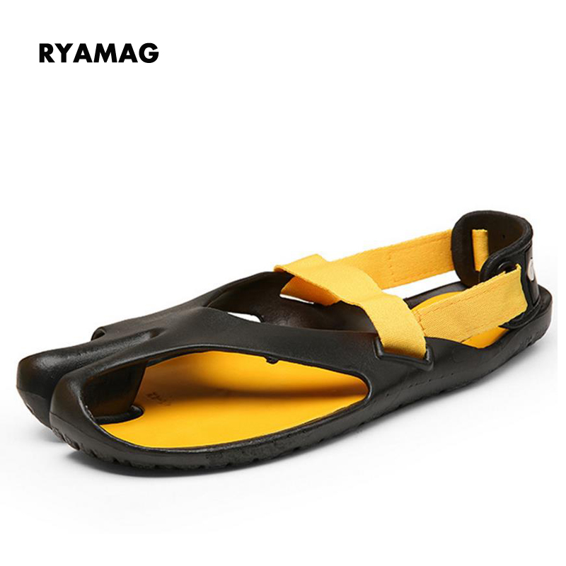 Mens Summer Slippers Man Vietnam Cool Drag Non-slip Beach Shoes Summer One Word Drag Character Cool Slippers Shoes Flats