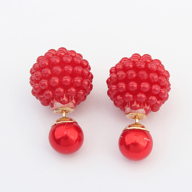5 Colors Pearl Imitation Earrings