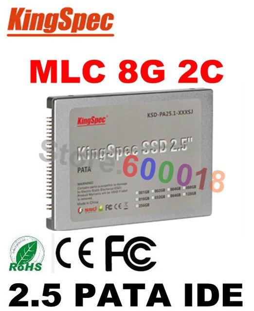"L Бренда Kingspec 2.5 Дюймов 44PIN PATA IDE SSD 8 ГБ MLC 2-канальный 2.5 ""Solid State Disk Flash Drive Для компьютера накопитель дропшиппинг"