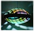 Venda quente Em Madeira Colorida UFO LEVOU Pingente Luzes Novidade Droplight Hanglamp Lamparas Iluminação Luminárias Para Bar Café Sala de Estar Em Casa