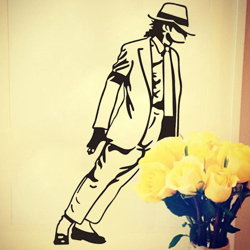 33*54cm HOT Fashion Dancing Michael Jackson Wall Stickers Removable ...