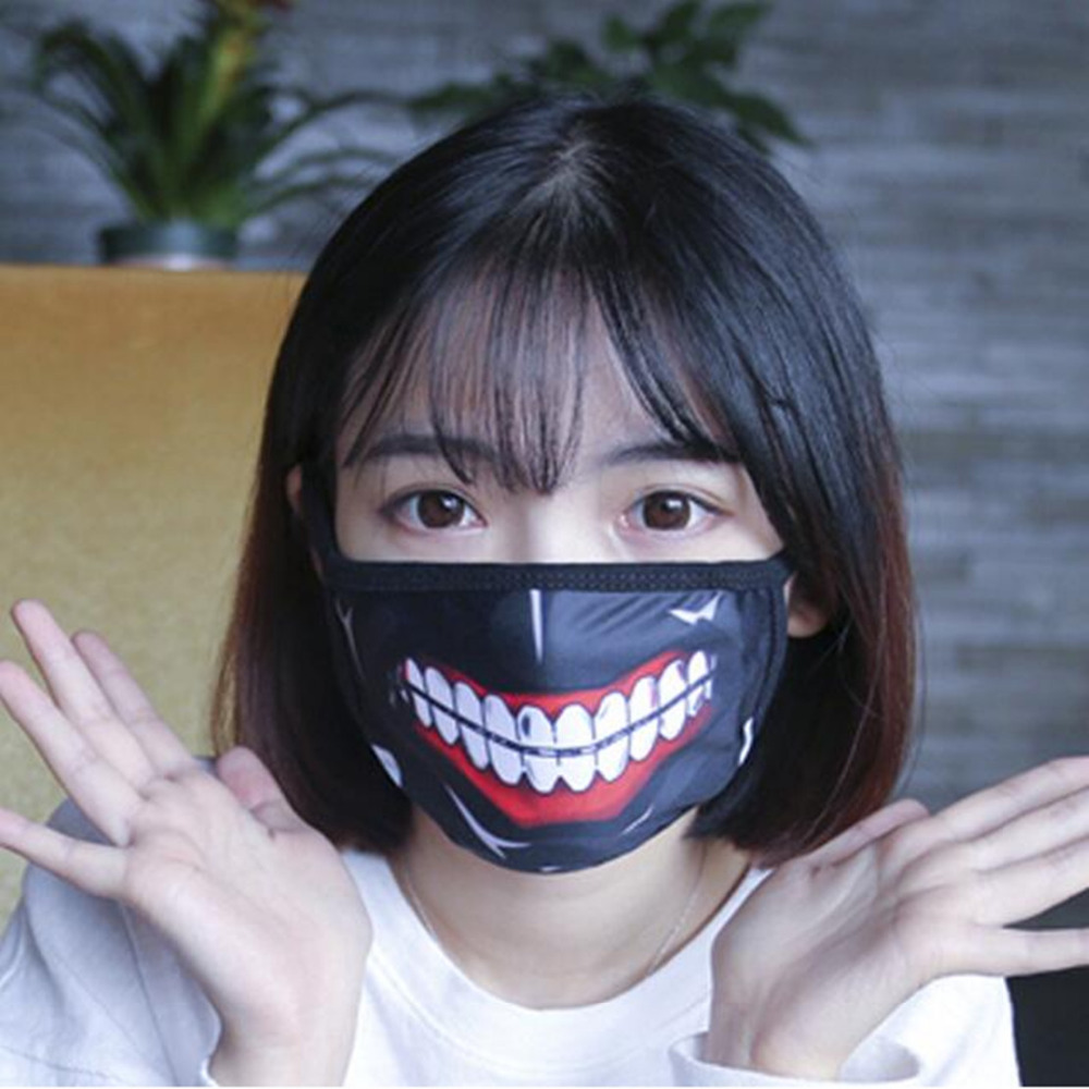 Japan Anime Tokyo Ghoul 2 Mask Kaneki Ken Mask Cartoon Gauze Masks Cool Black Red Mask Blinder High Quality 4 Style Cosplay