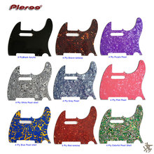 Pleroo Guitar Parts - For USA / Mexico FD 8 Screw Holes Standard Tele Guitar Pickguard Scratch Plate Replacement цены онлайн