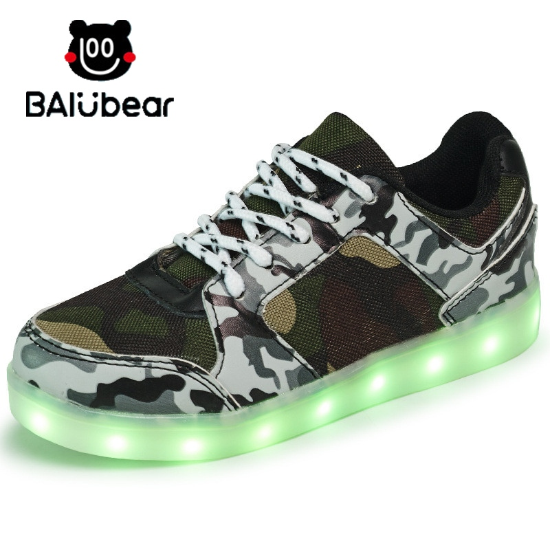 Hot Kids LED Luminous Sneakers Fashion USB Charging Lighted 8 Colorful lights Children Shoes girls Casual Flat For Boy Shoes tutuyu camo luminous glowing sneakers child kids sneakers luminous colorful led lights children shoes girls boy shoes
