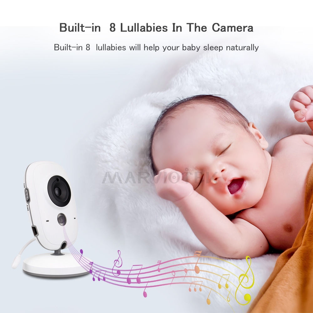 Image 4 - 3.2 inch Wireless Baby Monitor Video Color VB603 High Resolution Baby Nanny Security Camera Night Vision Temperature Monitoring-in Baby Monitors from Security & Protection