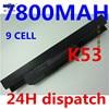 9cells Laptop Battery A31 K53 A32 K53 A41 K53 A42 K53 For Asus X53s A43 A53s