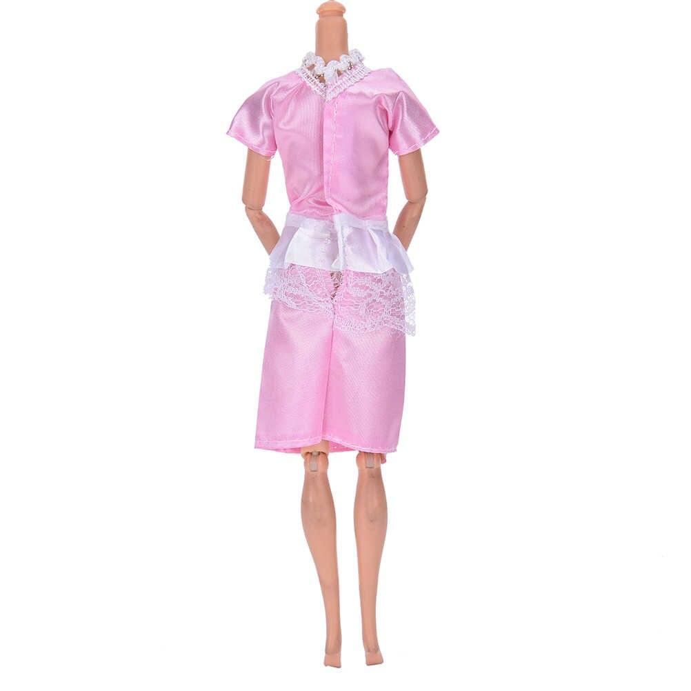 1 مجموعة الأزياء الوردي الأبيض الملاك الإناث ممرضة اللباس تأثيري موحدة + قبعة لعب ل للدمى