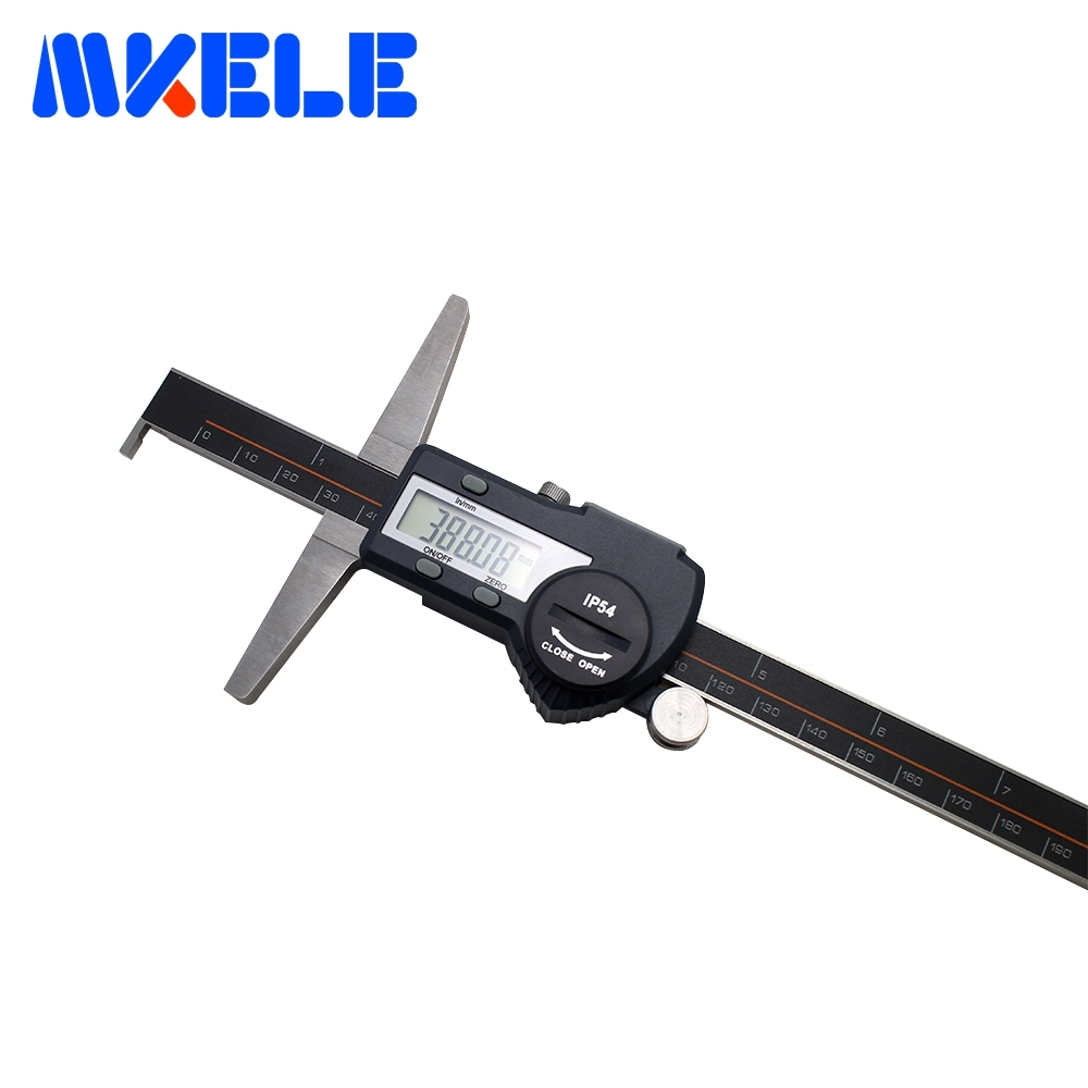 0-200mm Single Hook Digital Depth Vernier Caliper Depth Ruler Digital Vernier Caliper Micrometer High-Accuracy IP54 Waterproof 0 300mm high accuracy digital electronic vernier caliper lcd micrometer digital caliper stainless steel ip54 waterproof