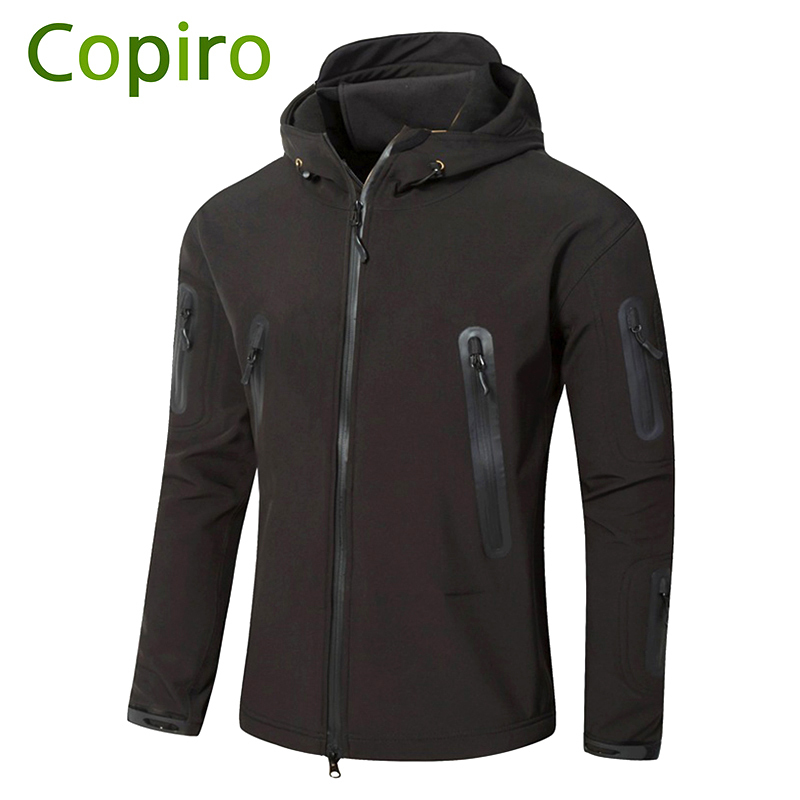 Copiro Softshell Hiking Jacket Men Waterproof Windbreaker Shark Skin Military Tactical Clothing Ski Suit Outdoor Camping Coat lurker shark skin soft shell v4 military tactical jacket men waterproof windproof warm coat camouflage hooded camo army clothing