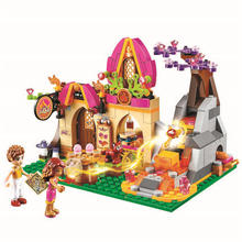 10412 Fairy Elves Azari Magical Bakery Building Bricks Blocks Set Kids Toys Compatible With Legoings Friends 41074 For Girl