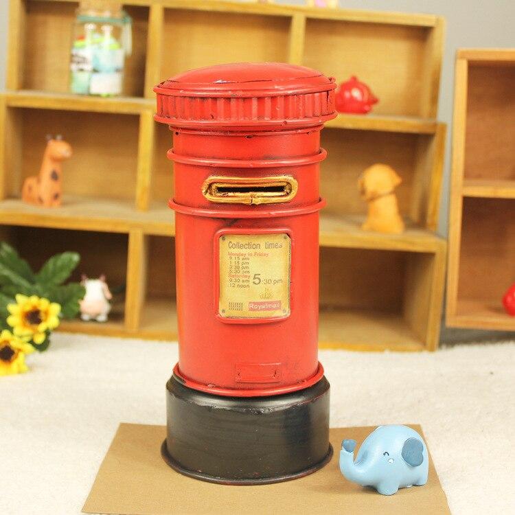 Vintage décoration de la maison fer métal artisanat fait à la main boîte aux lettres forme pot d'argent anniversaire cadeau couleurs aléatoire livraison gratuite