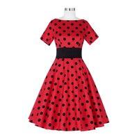 Belle Poque Summer 2017 Polka Dots Dress Short Sleeve V Back Elegant Cotton Casual Sashes With