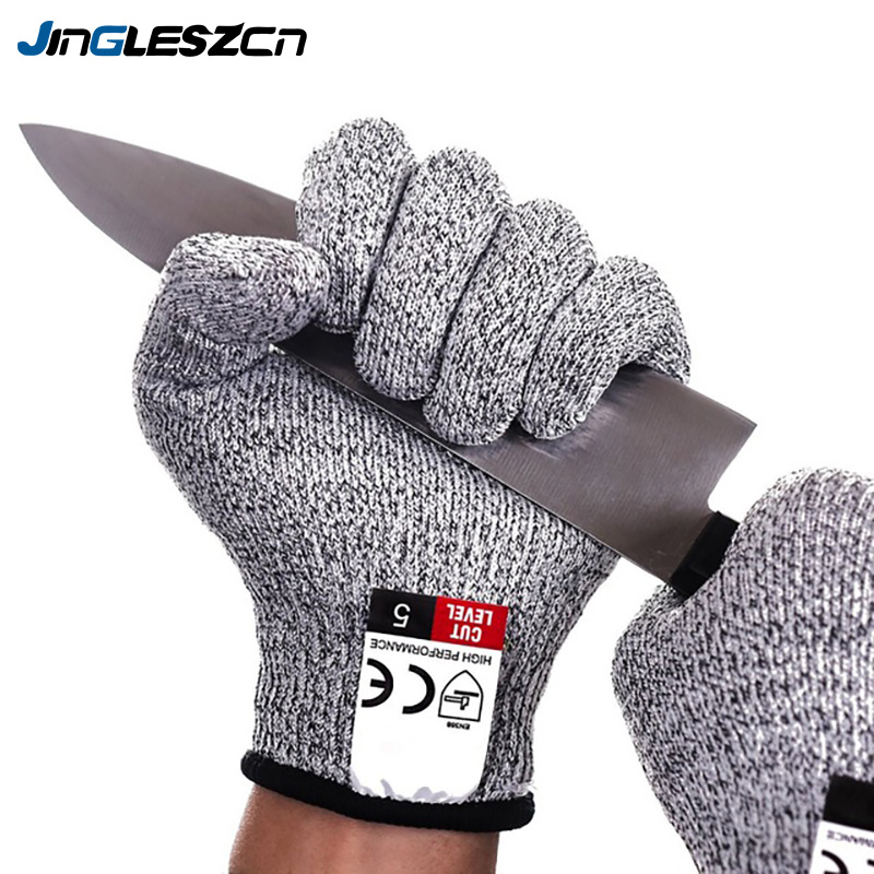 1Pairs Cut Resistant Gloves Food Grade Level 5 Protection Safety Kitchen Cuts Gloves For Oyster Fish Meat Cutting Safety Gloves