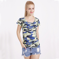 9 Colors Fashion 100 Cotton Women Summer T Shirts Short Sleeve Women Camouflage T Shirts Female
