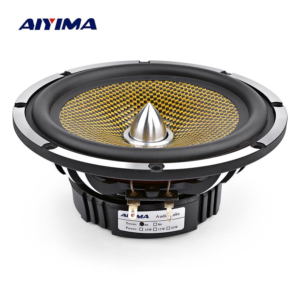 AIYIMA 6,5 Zoll Auto Audio Mitten Bass Lautsprecher High Power 4 8 Ohm 60 W 25 Core Kugel Aluminium Becken musik Woofer Lautsprecher