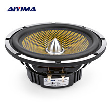 AIYIMA 6.5 Inch Car Audio Midrange Bass Speaker High Power 4 8 Ohm 60 W 25 Core Bullet Aluminum Basin Music Woofer Loudspeaker hifidiy live hifi 5 98 inch 6 midbass woofer speaker unit 8ohm 80w casting aluminum fram bullet proof cloth loudspeaker f5 152