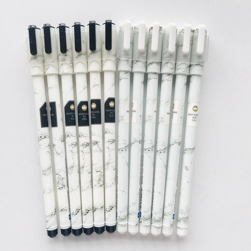 2pcs Stone Pattern Marble Starry Sky Gel Pen Rollerball Pen School Supply