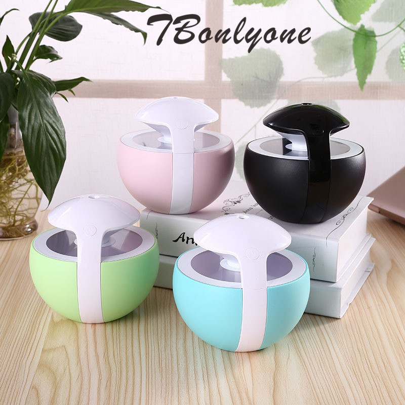 TBonlyone 450ml Air Humidifier USB Essential Oil Diffuser Aroma Ultrasonic Humidifier with Night Light Air Humidifier for Home