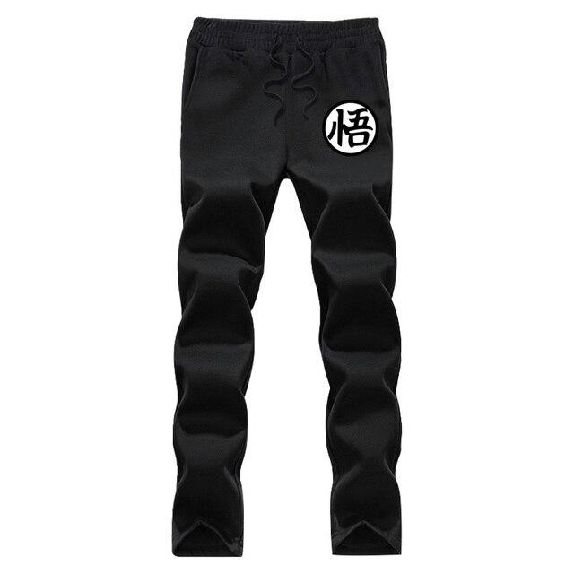 2016 Осень и зима Dragon Ball pattern повседневная Хип-Hoppants Печати эластичный пояс руно мужские брюки Тренировочные брюки blackGrey