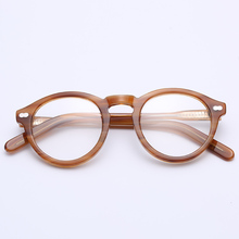 Moda Retro homens mulheres Frame Ótico de Acetato de marca de design da  marca Do Vintage Cheio de Óculos Óculos Frames Óculos 5e697dfa7b