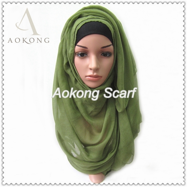 One piece hijab scarf solid plain viscose voile muslim hijabs scarfs Islam wedding maxi shawls wholesale women head wraps spring