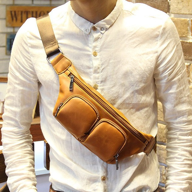 Fashion Leisure Brand Men Small Shoulder Bag Cross Body Messenger