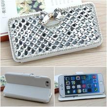 Роскошные побрякушки Diamond Crystal Флип Кожаная женская сумка чехол для Samsung Galaxy S7 S6 Edge Plus S5 S4 S3 Примечание 5 4 3 2 Чехол