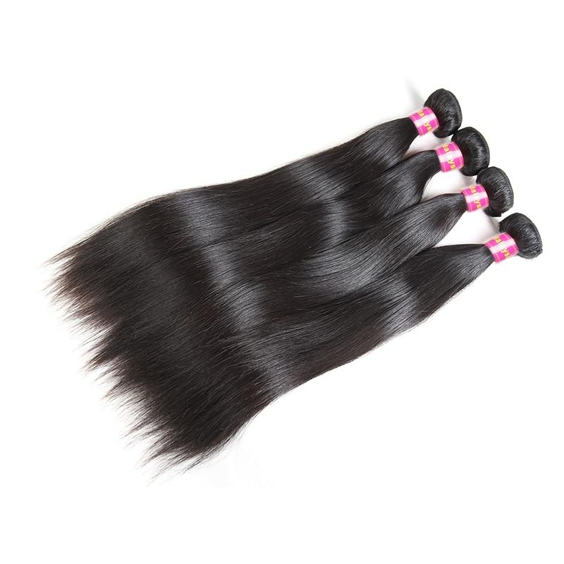 Ali Queen Hair Medium Ratio 7A Malaysian Straight Virgin Hair Bundles 3Pcs Natural Color 8