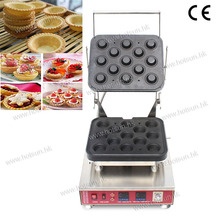 13pcs Professional Non-stick 110V 220V Electric Egg Tart Pie Ice Cream Corn Waffle Bowl Maker Machine with Removable Plate
