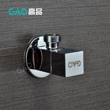"""G1/"""" с наружной резьбой, латунный угловой клапан для ванной комнаты, хромированный клапан управления, медный кран, запорный клапан, квадратный клапан"""
