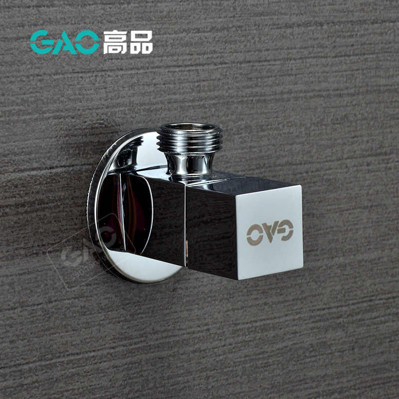 "G1/2"" Male Thread Brass Bathroom Angle Valve Chrome Finish Control Valve Copper Faucet Stop Valve Square Valve"