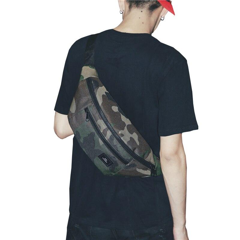 Unisex Waist Bag Zipper Chest Bag Street Sport Fanny Pack Girl Boy Big Waist Belt Bags New Fashion Phone Waist Pack X80