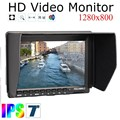 7 ''Fino monitor de Vídeo HD fw759 feelworld IPS 1280x800 HDMI 1080 p com Sombrinha FW759 para BMPCC BMCC monitor da câmera hd