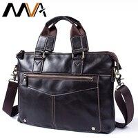 MVA 2018 Men Shoulder Bags Laptop Messenger Bag Men Leather Handbag Totes Casual Crossbody Bags For