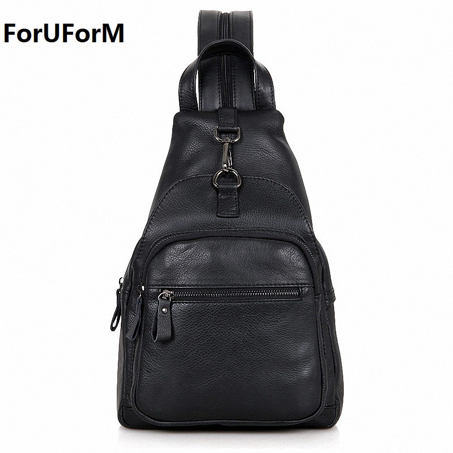 ForUForM New Designer Genuine Leather Cowhide Retro Men Messenger Shoulder Cross Body Bag Triangle Travel Chest Pack LI-1583 new high quality genuine leather cell mobile phone case small messenger shoulder cross body belt bag men fanny waist hook pack